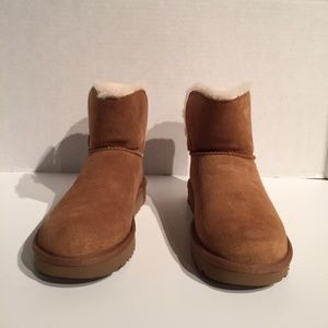 Ugg Karel Chestnut Mini Buckle Boots